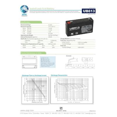6-Volt 1.3 Ah F1 Terminal Sealed Lead Acid (SLA) AGM Rechargeable Battery