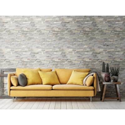 Sunset Silver Splitface Ledger Panel 6 in. x 24 in. Natural Quartzite Wall Tile (6 sq. ft./Case)