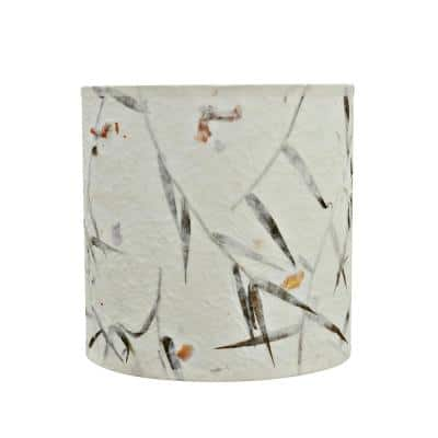 8 in. x 8 in. Off White Drum/Cylinder Lamp Shade