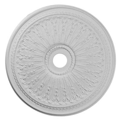 """29-1/8"""" x 3-5/8"""" ID x 1"""" Oakleaf Urethane Ceiling (Fits Canopies up to 6-1/4""""), Primed White"""