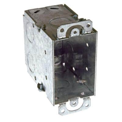 3 in x 2 in. Gangable Switch Electrical Box, NMSC Clamps and Plaster Ears