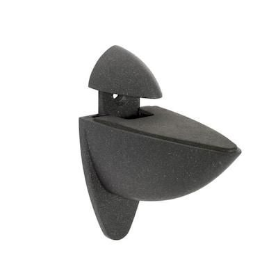 Ara 3/16 in. - 1 in. Adjustable Shelf Support in Black