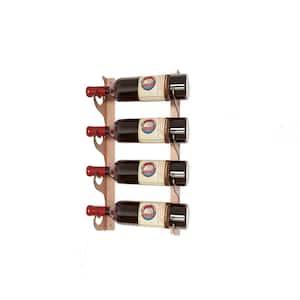 Eagle Edition 4 Bottle Wall Mounted Wine Rack (Single Depth) Brown
