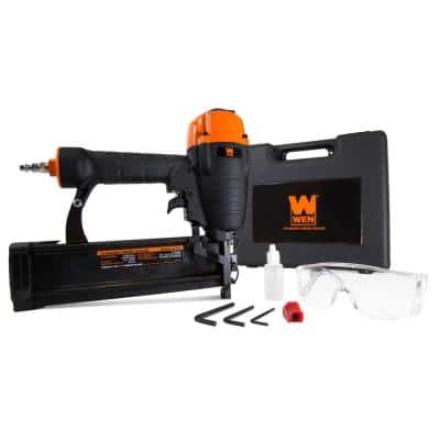 Pneumatic 16-Gauge Straight Finish Nailer with Carrying Case