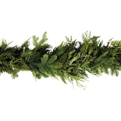 15 ft. Fresh Cut Mixed Garland with Fragrant Red Cedar, Noble Fir, and Douglas Fir