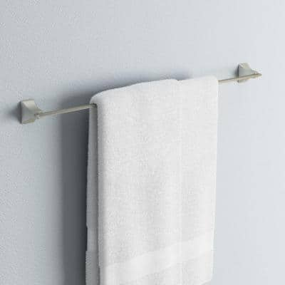 Shangri-La 24 in. Towel Bar in Satin Nickel