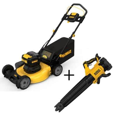 21.5 in. 20-Volt Max Li-Ion Cordless Battery Walk Behind Push Mower w/125 MPH 450 CFM 20V Brushless Blower(Tool Only)