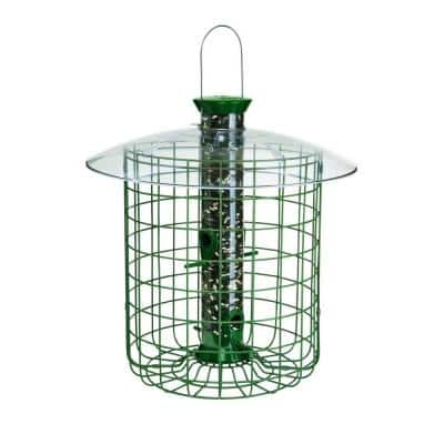 1 lb. Green Sunflower Domed Cage Shelter Feeder