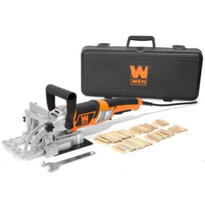 8.5 Amp Plate and Biscuit Joiner with Case and Biscuits