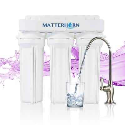 3-Stage High Performance Under the Counter System with Mineralized Alkaline