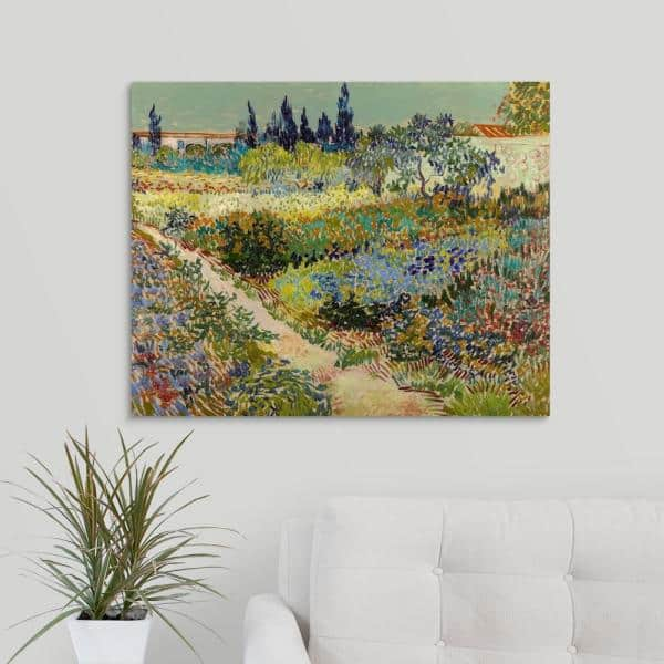 GRANNY/'S GARDEN ~ Original Fluid Art Acrylic Painting on Canvas Paint Pour Abstract 16x20