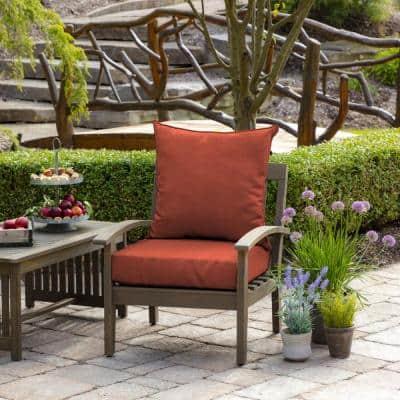 24 in. x 22.5 in. Sedona Woven 2-Piece Outdoor Deep Seating Lounge Chair Cushion