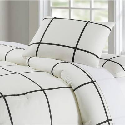 Kurt Windowpane Comforter Set