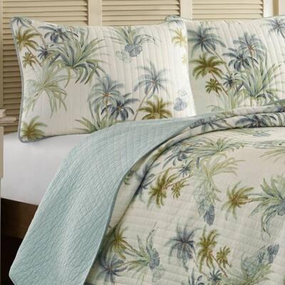 Serenity Palms Cotton Quilt