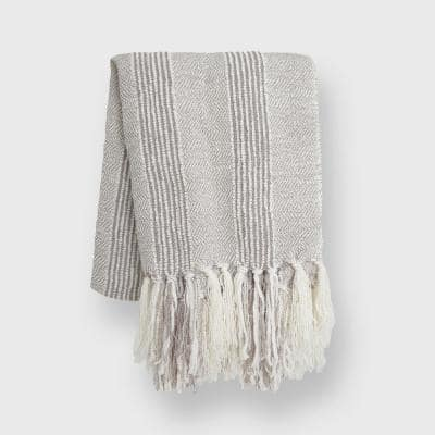 Stripe Textured 60 in. x 50 in. Throw