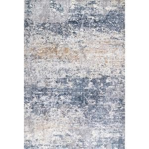 Wilde Tribal Distressed Blue 7 ft. x 9 ft. Area Rug