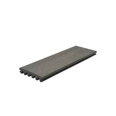 Enhance 1 in. x 5.5 in. x 1 ft. Clam Shell Composite Decking Board Sample (Model # CSE92000 )