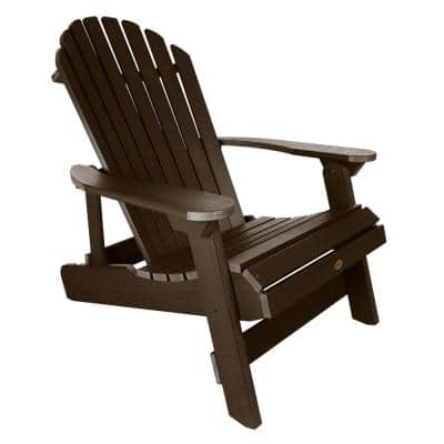 King Hamilton Weathered Acorn Folding and Reclining Recycled Plastic Adirondack Chair