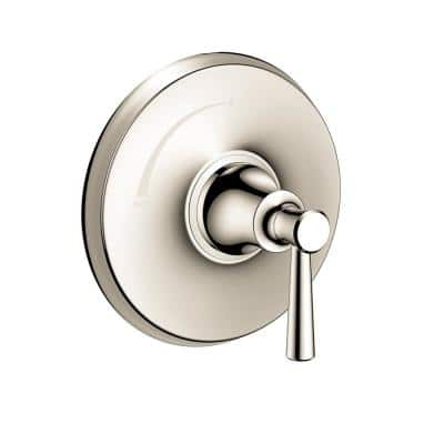 Joleena Single-Handle Shower Trim Kit in Polished Nickel Valve Not Included