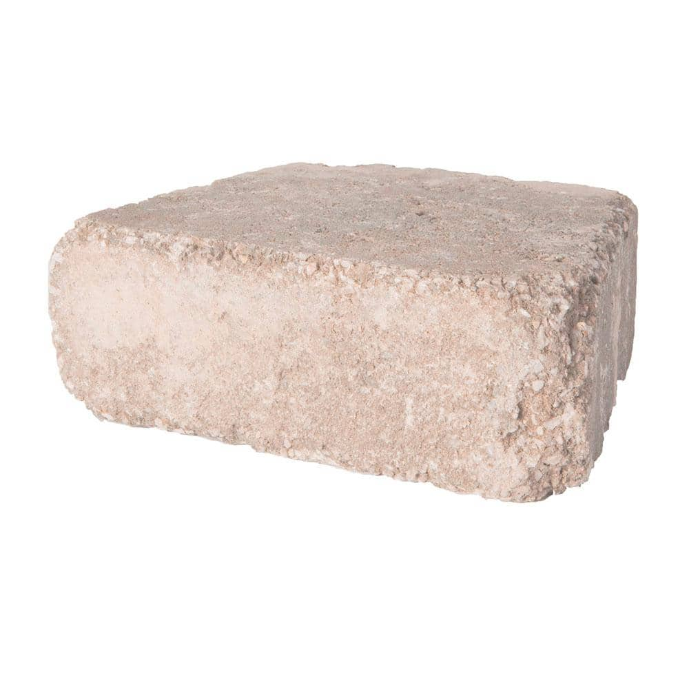 Pavestone Rumblestone Trap 3 5 In X 10 25 In X 7 In Cafe Concrete Garden Wall Block 120 Pcs 29 9 Face Ft Pallet 92369 The Home Depot