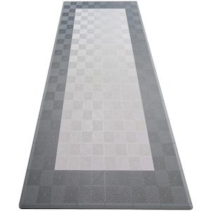 Silver and Grey Single Car Pad Ribtrax Modular Tile Flooring (134 sq. ft./case)