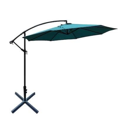 10 ft. Cantilever Outdoor Patio Umbrella in Blue