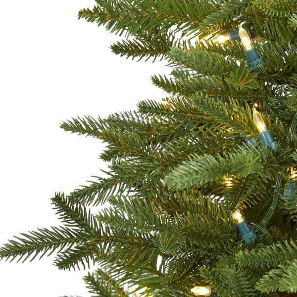 Nearly Natural 5 Ft Pre Lit Cambridge Fir Artificial Christmas Tree With 300 Clear Warm Multi Function Led Lights T1478 The Home Depot