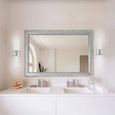 Aurora 2-Light Chrome LED Integrated Vanity Light with Acrylic Bubble Glass