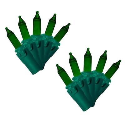 100-Light Designer Series Green Mini Light Set (Set of 2)