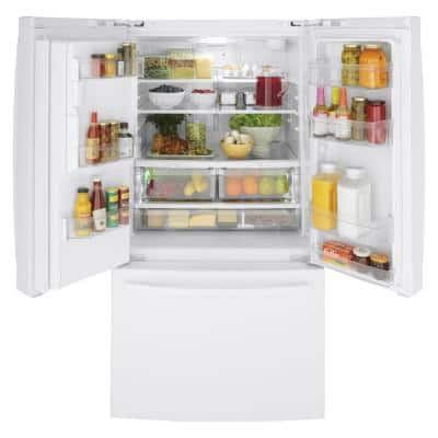 25.6 cu. ft. French Door Refrigerator in White, ENERGY STAR