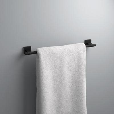 Maxted 18 in. Towel Bar in Matte Black