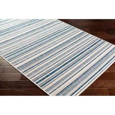 Llyr Denim 7 ft. 10 in. x 10 ft. 2 in. Indoor/Outdoor Area Rug