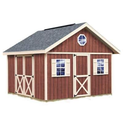Fairview 12 ft. x 12 ft. Wood Storage Shed Kit