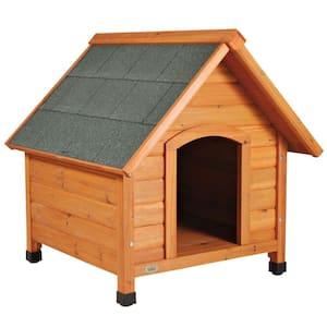 natura Cottage Dog House, Peaked Roof, Adjustable Legs, Brown, Small