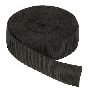 1 in. x 150 ft. Webbing Strap, Black