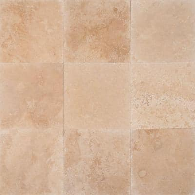Tuscany Ivory 18 in. x 18 in. Honed Travertine Floor and Wall Tile (9 sq. ft. / case)