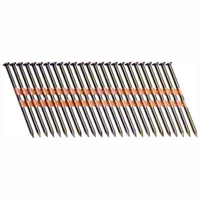 3 in. x 0.120 in. Plastic Bright Vinyl-Coated Steel Smooth Shank Round Framing Nails (4,000 per Box)