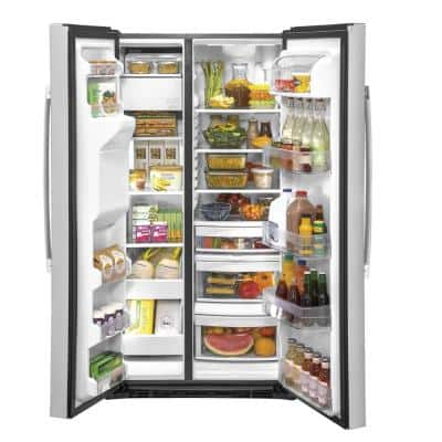 25.1 cu. ft. Side by Side Refrigerator in Fingerprint Resistant Stainless Steel