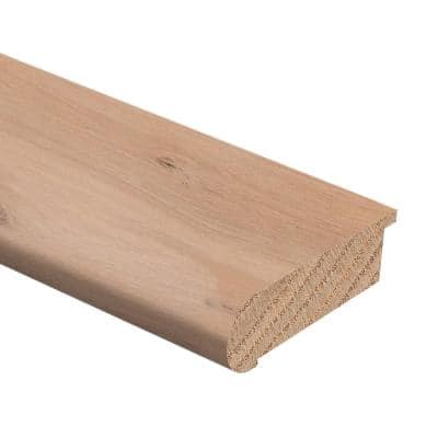 Unfinished White Oak 3/4 in. Thick x 2-3/4 in. Wide x 94 in. Length Hardwood Stair Nose Molding Flush