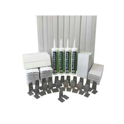 4 in.Thick Series Silicone System Glass Block Installation Kit (40 Block Kit for 8 in. x 8 in. x 4 in. or Smaller Block)