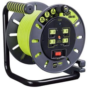60 ft. 14/3 Wire Gauge with 4-Outlets Extension Cord