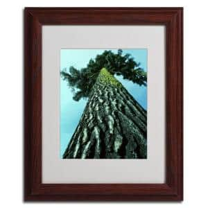 11 in. x 14 in. A Tree of Life Dark Wooden Framed Matted Art