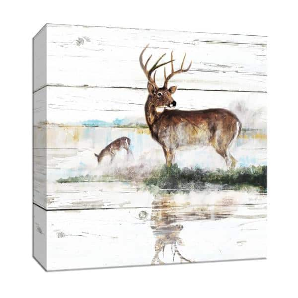 Ptm Images 15 In X 15 In Rustic Misty Deer Canvas Wall Art 9 165532 The Home Depot