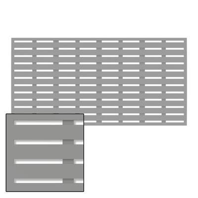 3 ft. x 6 ft. Boardwalk Grey Vinyl Decorative Screen Panel