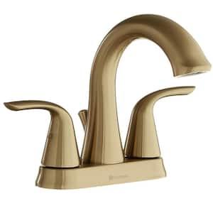 Irena 4 in. Centerset 2-Handle Bathroom Faucet in Brushed Bronze