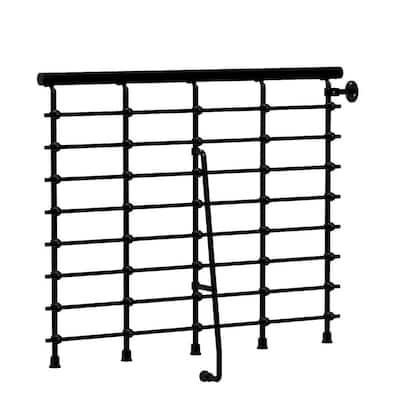 Oak.Xtra 47 in. Metal Black Balcony Rail Kit
