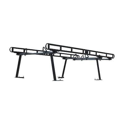 800 lbs. Capacity Black Powder-Coated Aluminum Truck Ladder Rack