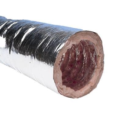 """HART /& COOLEY 10/"""" INSULATED FLEXABLE AIR DUCT R4.2 F114 10/"""" X 25/'"""