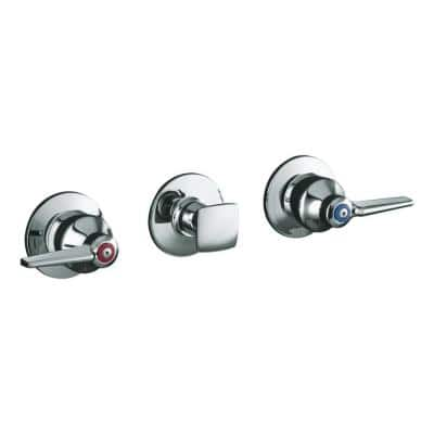 Triton 3-Handle Wall-Mount Valve Trim Kit in Polished Chrome (Valve Not Included)