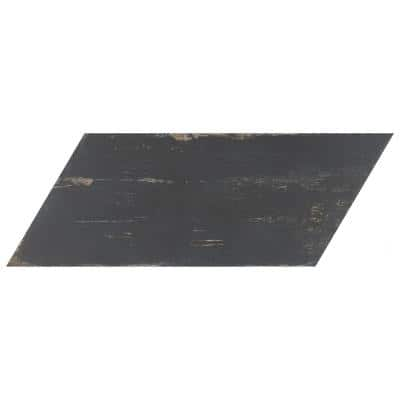 Retro Naveta Nero 7-1/8 in. x 16-3/8 in. Porcelain Floor and Wall Tile (11.07 sq. ft. / case)